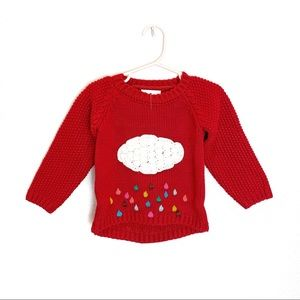 Toddler Kids Cloud Sweater - RED